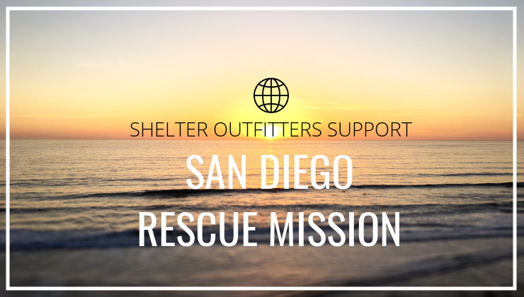 Shelter Outfitters Donates to the San Diego Rescue Mission For Curbing California's Homelessness