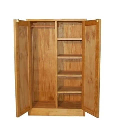 Double Wardrobe with Shelves