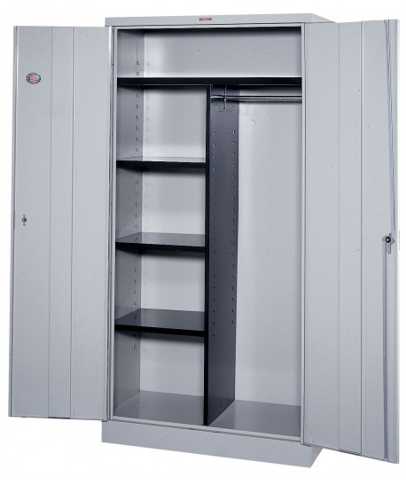 Double Wardrobe with Shelves Metal