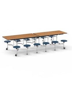 Twelve Seat Virco Mobile Stool Table