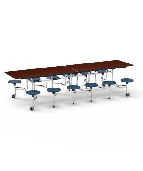 Twelve Seat Virco Mobile Stool Table