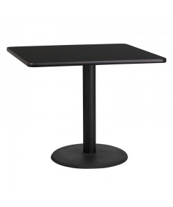 Square Dining Table Round Base