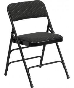 Hercules Patterned Fabric Folding Chair